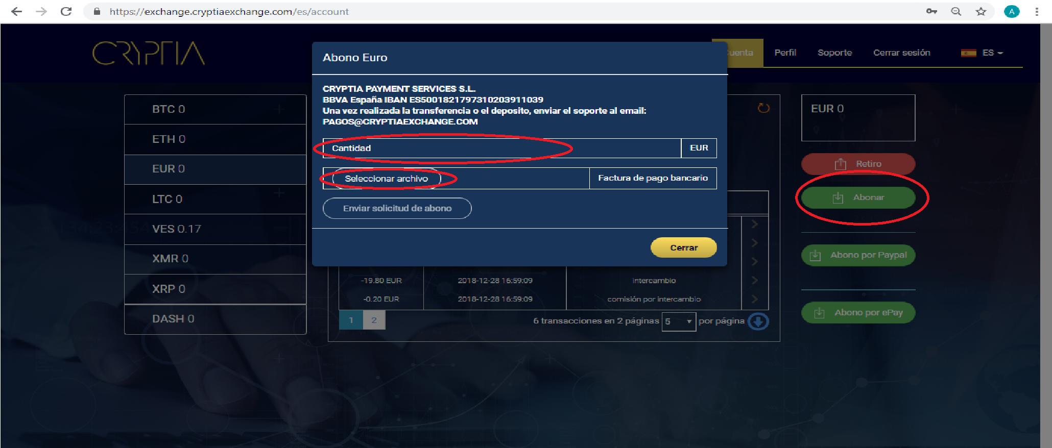 como-abonar-fondos-a-cryptia-exchange