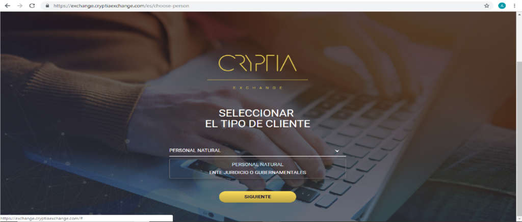 Cryptia Exchange