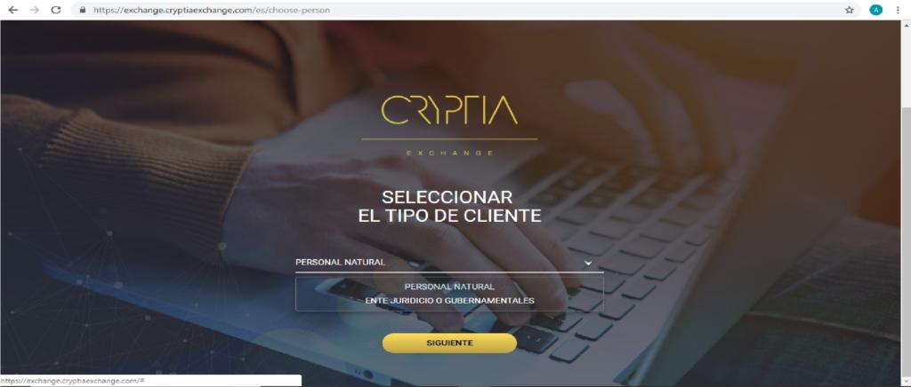 Cryptia Exchange
